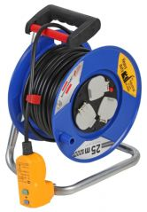 BRENNENSTUHL 1217853  Rcd Protected Cable Reel 13A 25M S/Cut